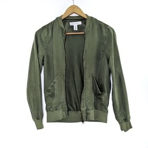 Kenneth Cole Reaction Military Green Bomber Jacket
